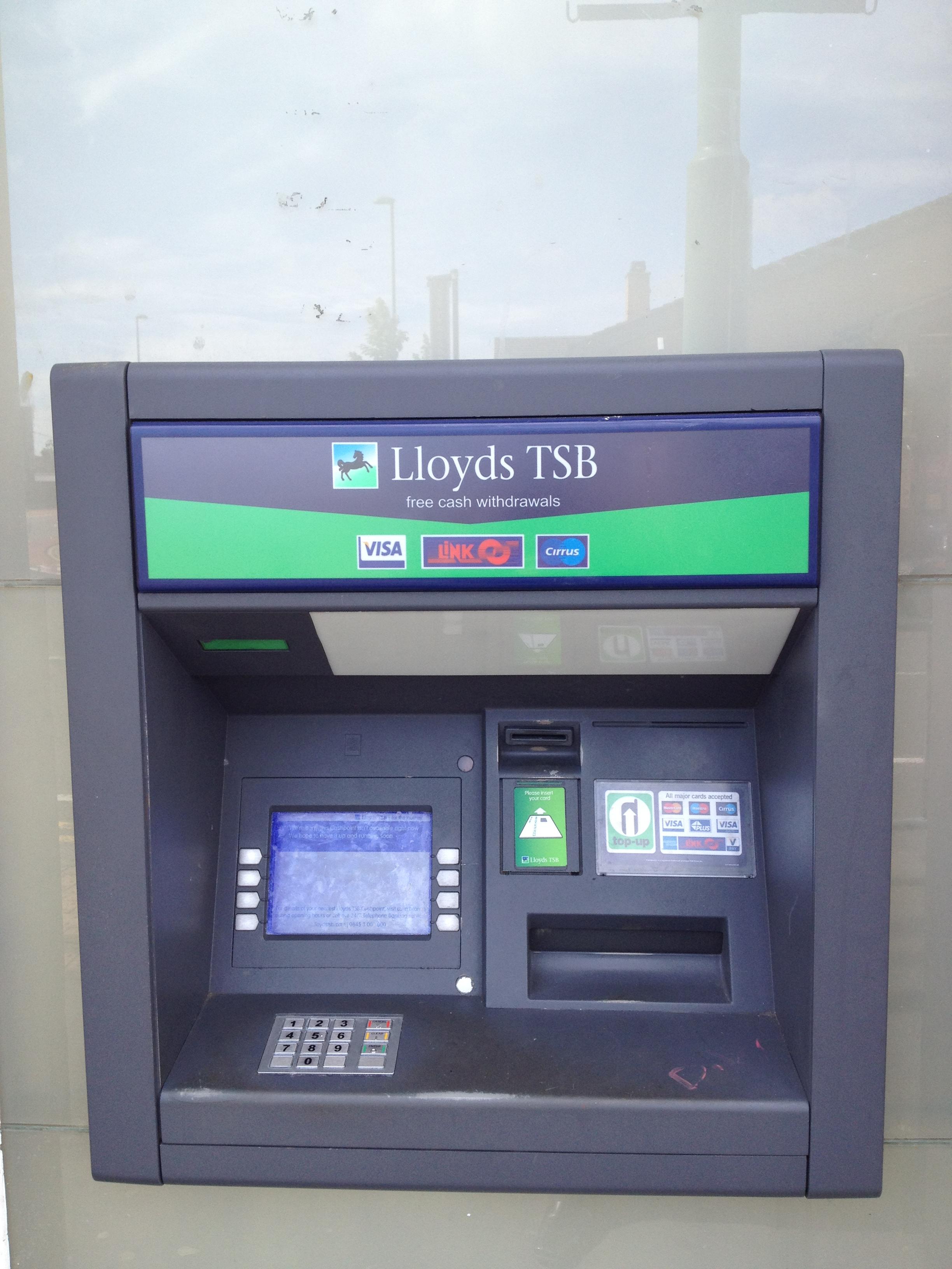 bank cash machine