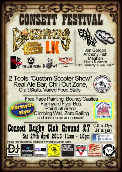 Consett Festival Poster