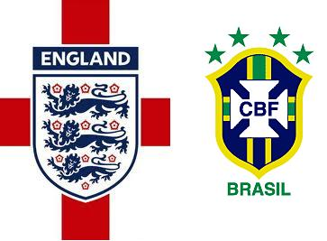 Live Streaming England vs Brazil
