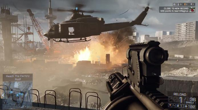 A screenshot from Battlefield 4