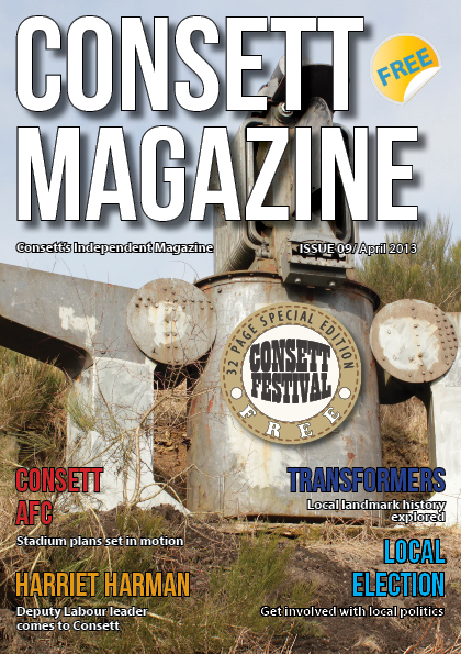 Consett Magazine April Issue 9 - Front Coverl