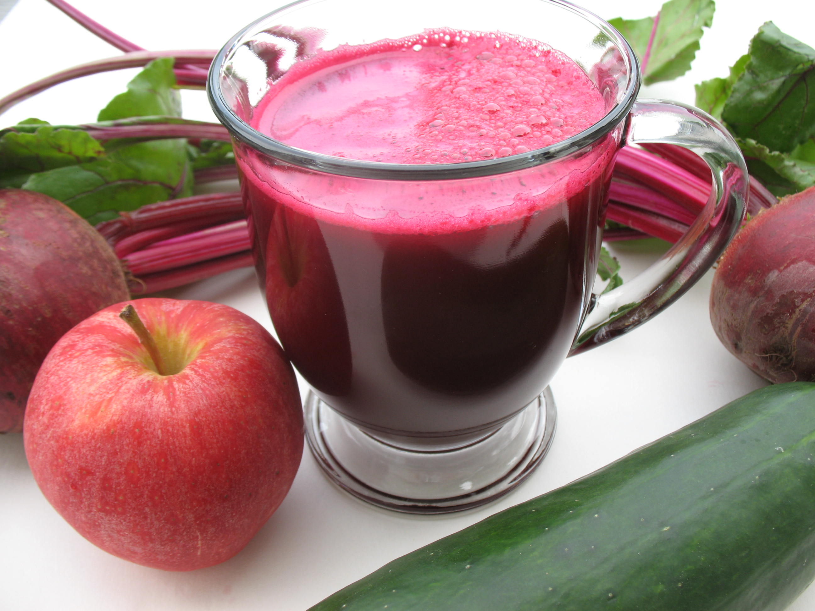A cool glass of beetroot juice