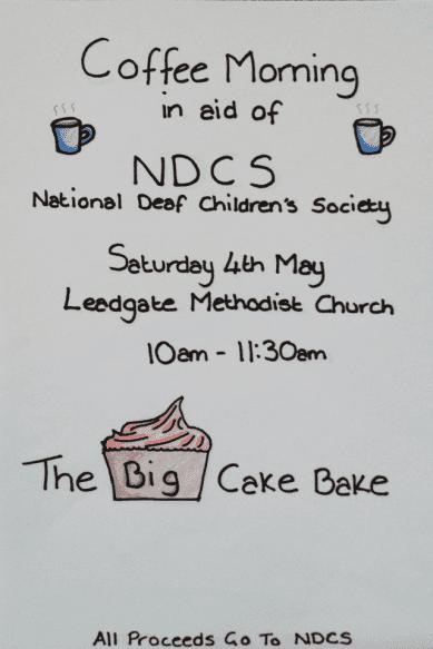 Big bake off poster NDCS