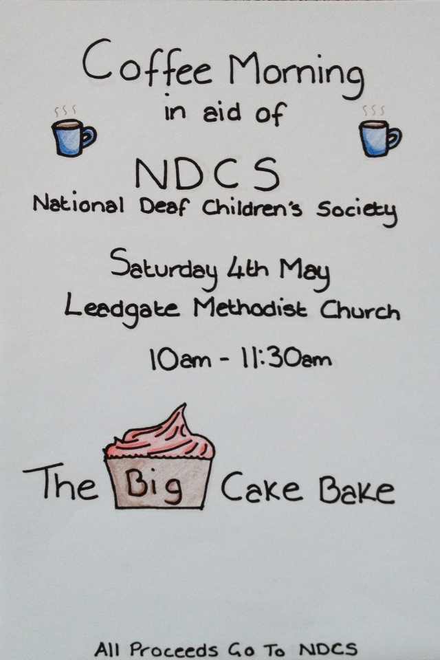 Big bake off poster NDCS