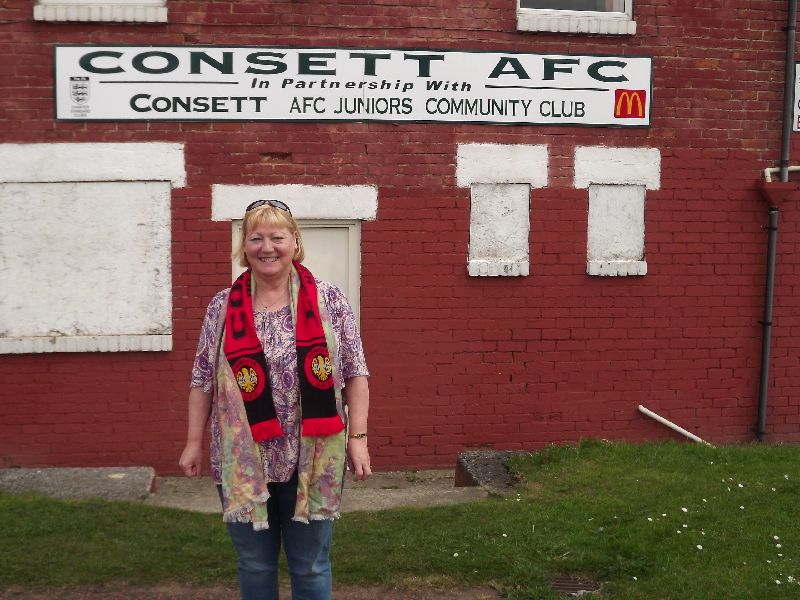 Pat Glass at Consett AFC