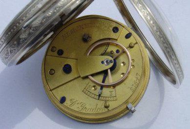 Silver pocket watch dobson