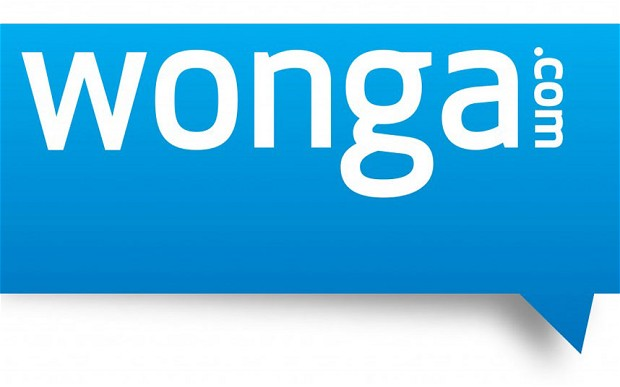 Wonga charges 5,853 per cent annual interest rates on short term loans.
