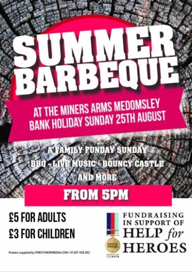 Miners Medomsley Poster BBQ 2013