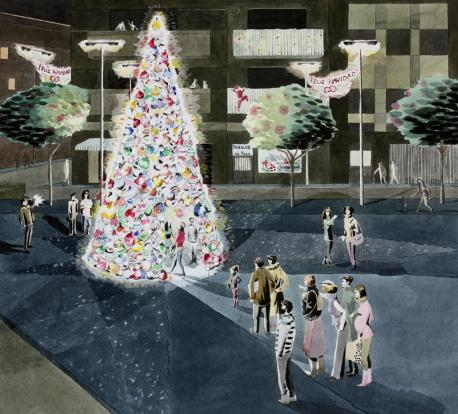 Artists impression The Consumerist Christmas Tree