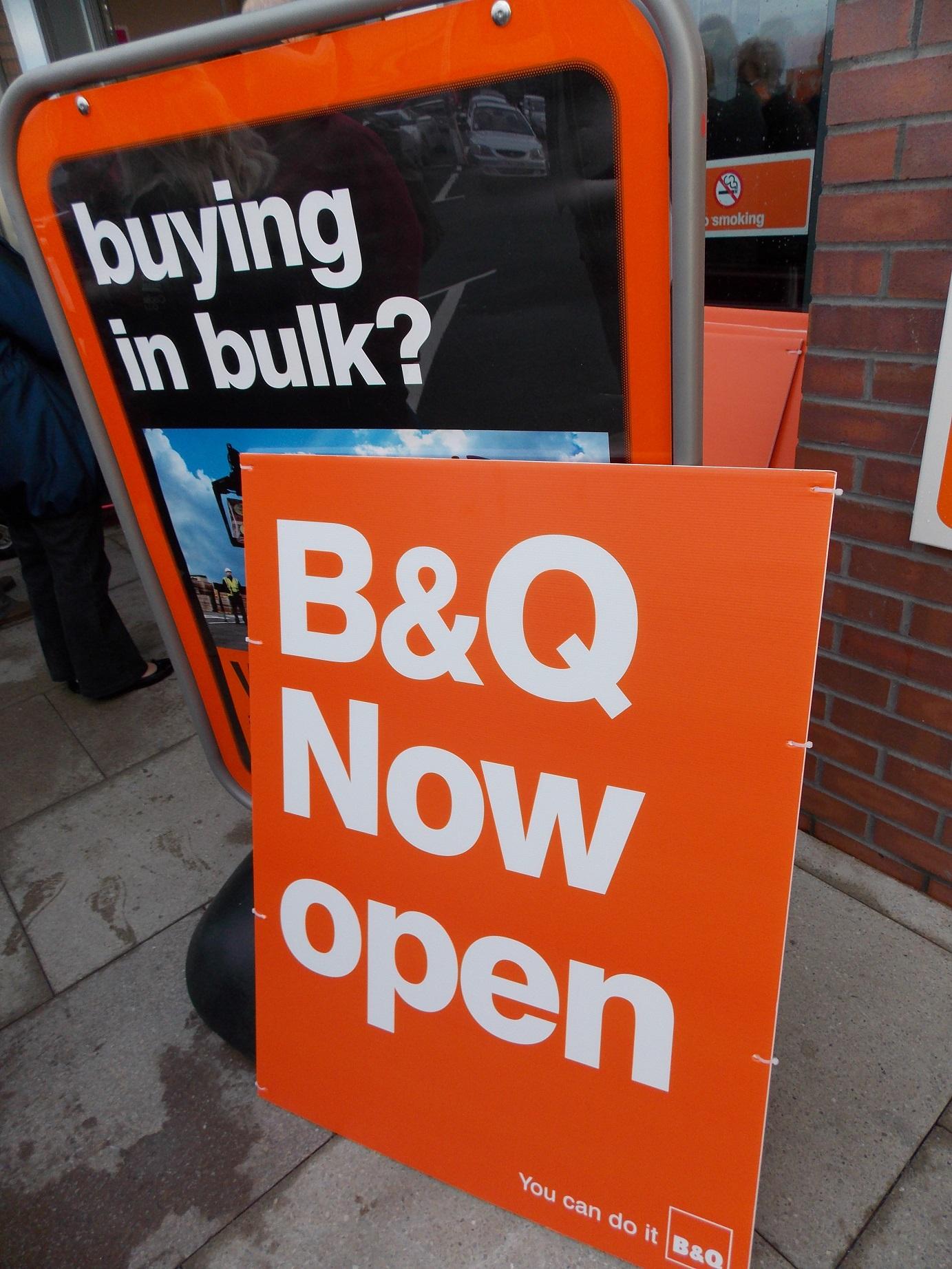 B&Q Consett Opening 1