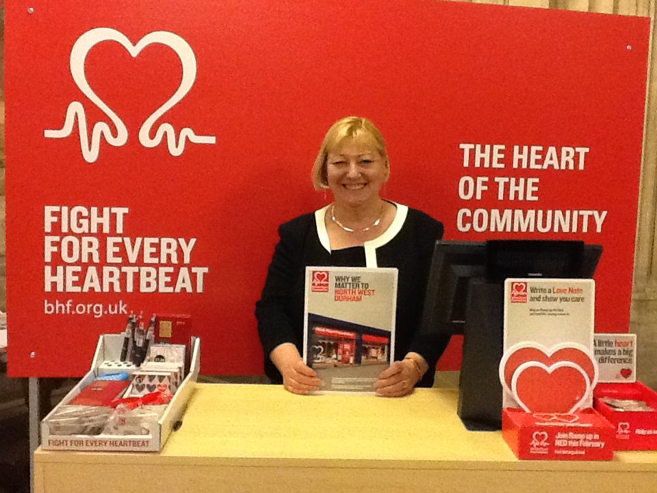 Pat Glass and the British Heart Foundation