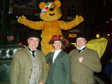 The BBC North East presenters at Beamish in 2011.
