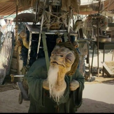 One of the new Episode VII characters on location in Abu Dhabi