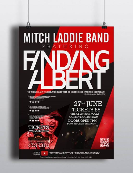 Gig poster image Mitch Laddie Finding Albert