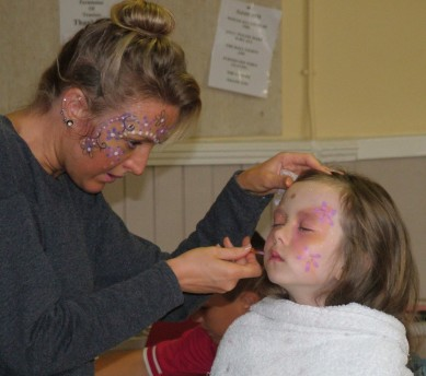 Face painting, one of the most popular attractions at most events, especially with youngsters. Pictured taking place at the Annfield Plain Summer Fayre.