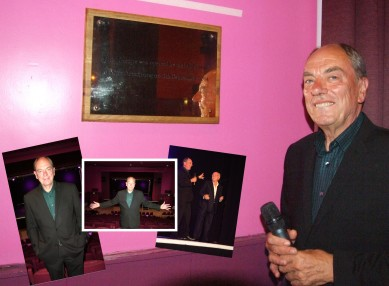 Alun Armstrong unveils the official renaming plaque (Main picture), posing for the camera and on stage with Bobby Pattinson.