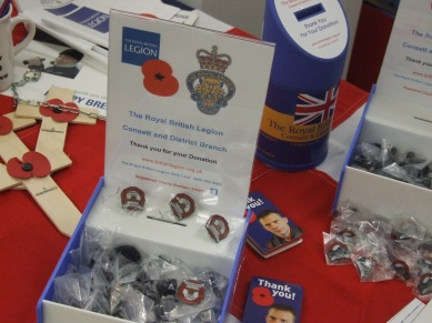 A selection of fundraising items on show from the Consett and District Royal British Legion