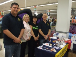 Simon and George from the Consett and District Branch of the Royal British Legion are joined by ASDA Management team Marsha and Anne.
