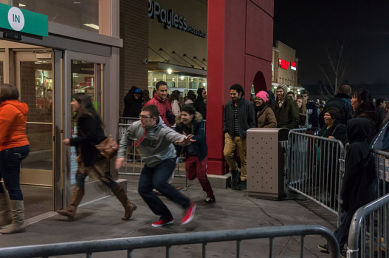 Black Friday Scenes in the US