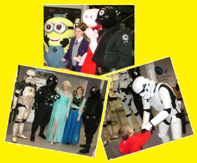 When Star Wars met Frozen and Despicable Me. Plus, young fans of them all