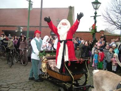 Santa arrives at Beamish Museum