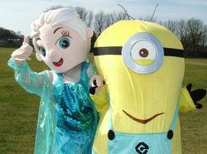Thumbs  Up from a Frozen Princess and a Minion