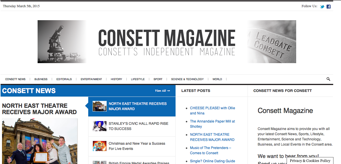 March at Consett Magazine