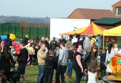 The crowds came out to enjoy the Spring sunshine and the atmosphere in East Stanley