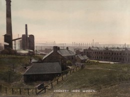 Macabre - Consett Iron Works Panoramic View Unposted c1910sSMALL