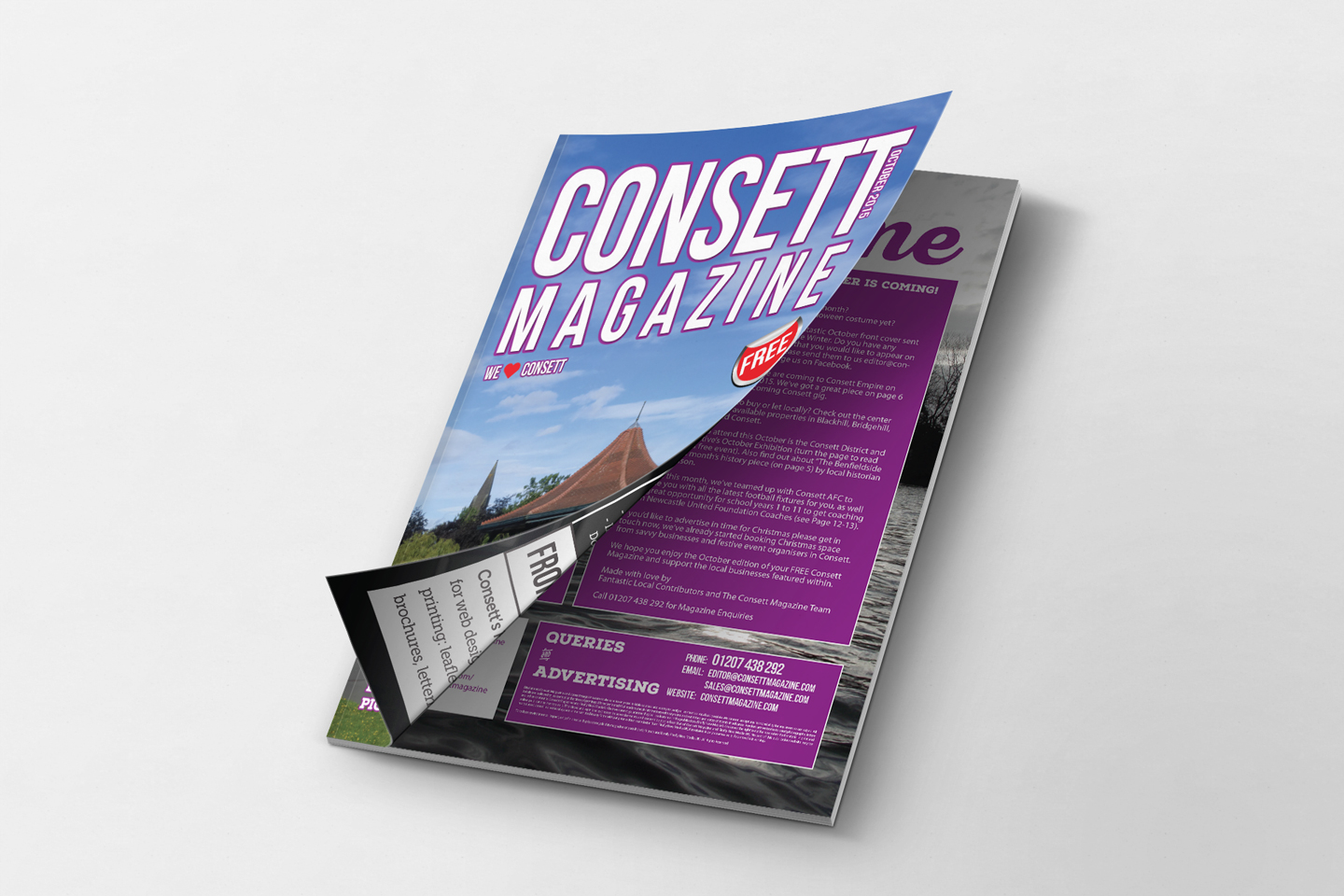 Consett Magazine - Editorial October 2015