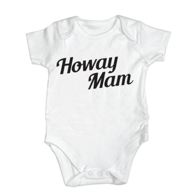 Baby Grow Custom Slogan Black
