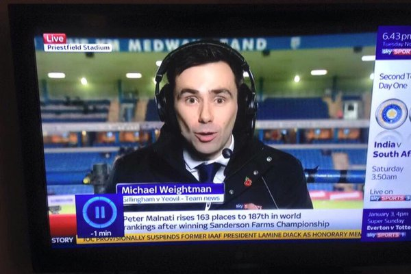 Weightman - Consett Sky Sports