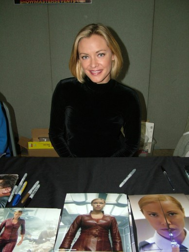 Terminator 3 star, Kristina Lokkenen at the 2015 NFCC in Newcastle