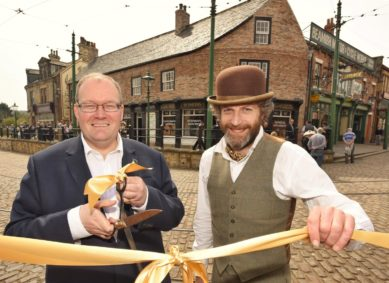 Darren Henley, Chief Executive of Arts Council England and Richard Evans, Director of Beamish Museum open the new premises.