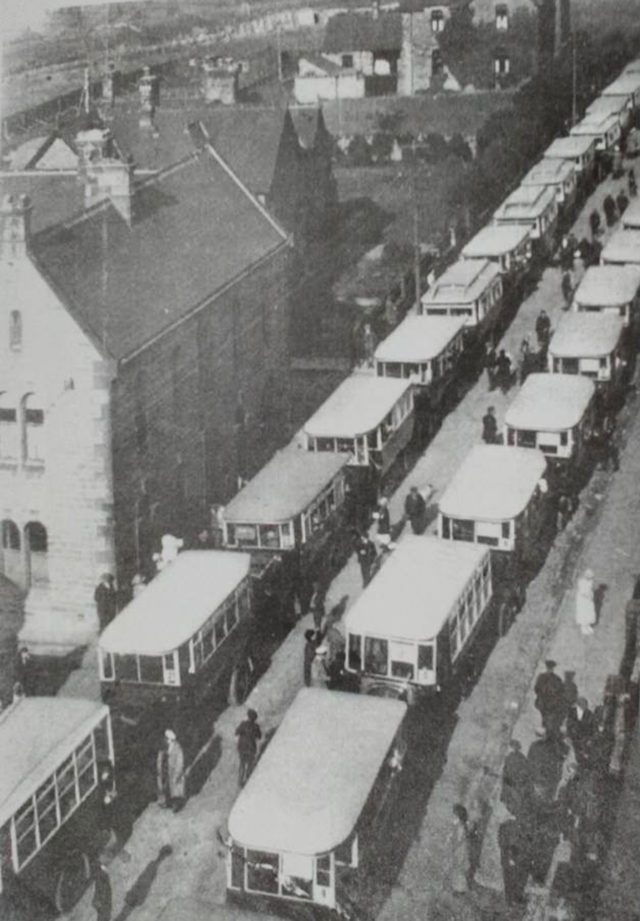 Soggey Seaside Sandwiches -Consett - Parliamnet Street buses for the Poor Childrens Trip