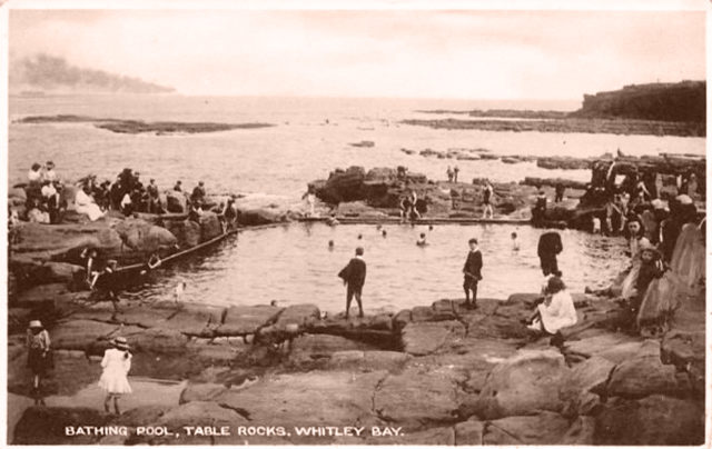 Soggy Seaside sandwiches - The Bathing Pool Table Rocks Whitley Bay