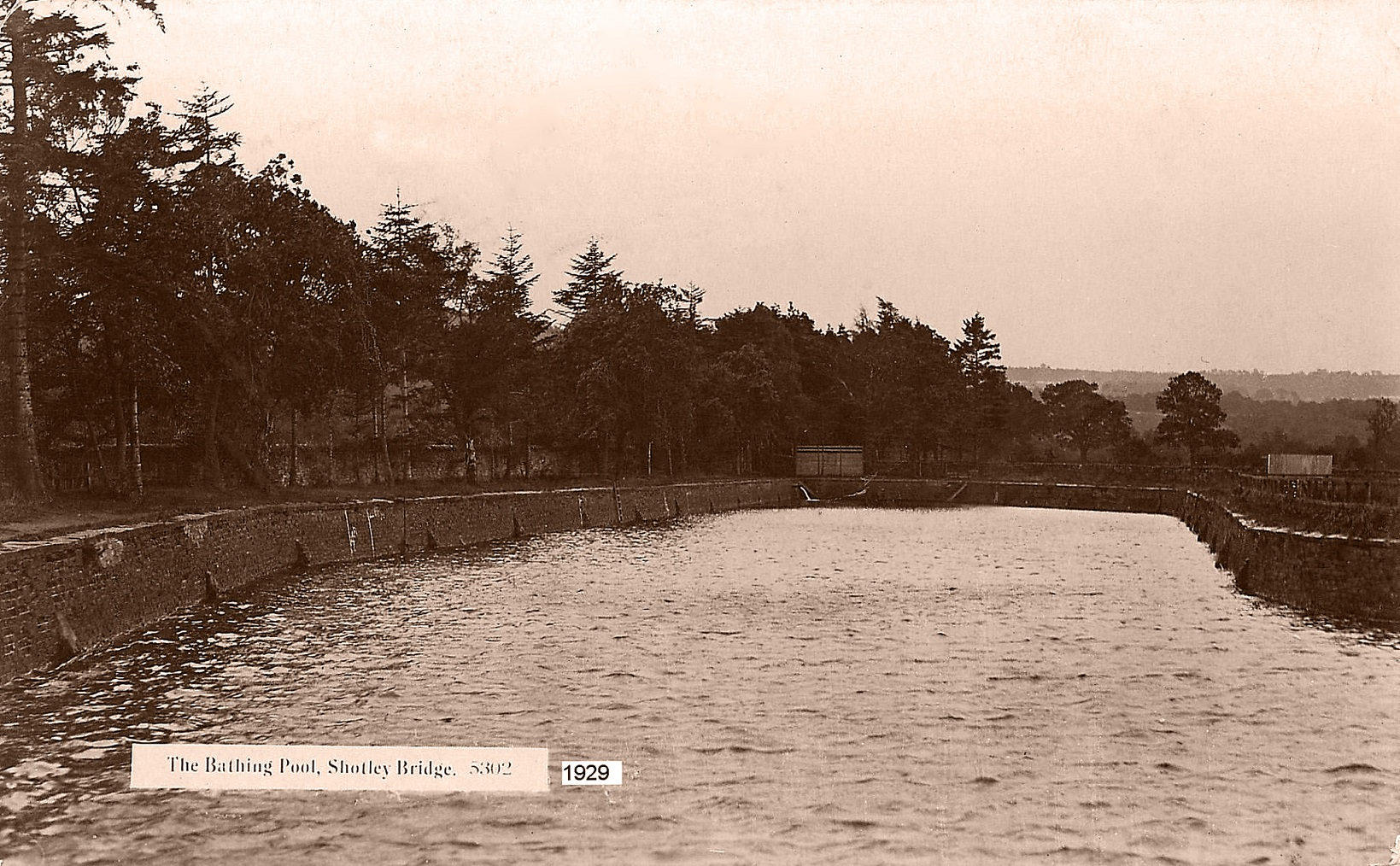 Rivers and Pools - Bathing Pool Shotley Bridge 1929-2