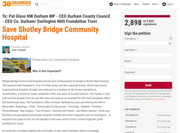 Save Shotley Bridge Hospital