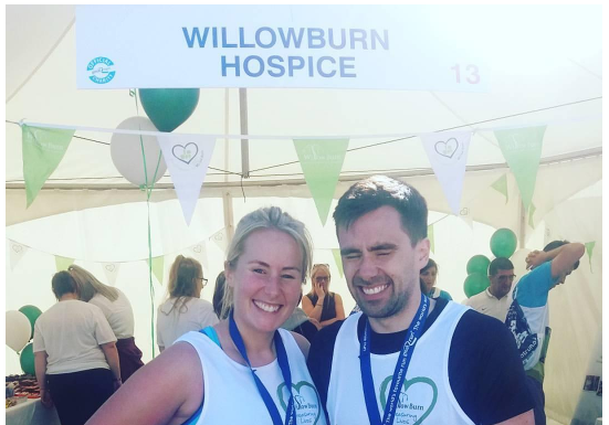 Katherine and Michael Weightman who recently completed the Great North Run in memory of their Dad Stewart Weightman