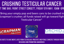 Crushing Cans For Testicular Cancer