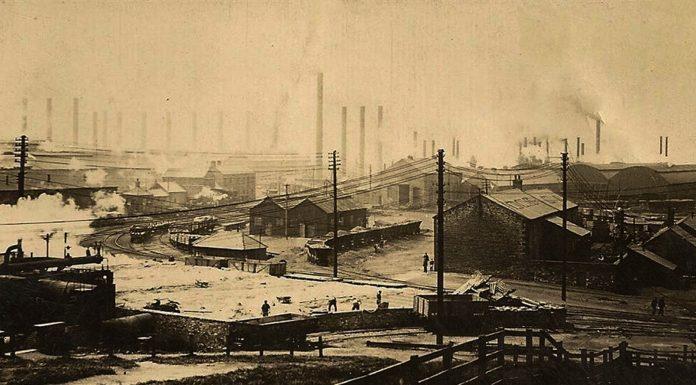 Consett History - 1866 Strikes and Openings - Consett iron Works