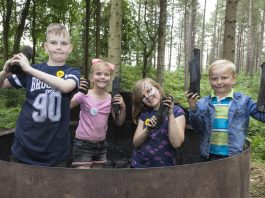 Chopwell woods, Rowlands Gill, Tyne and Wear, England - 09.07.2017: Chopwell Forest Festival Chopwell Woods for Land of Oak and Iron Project, Groundwork Trust, Chopwell woods, Rowlands Gill, Tyne and Wear, England.(George Ledger Photography)