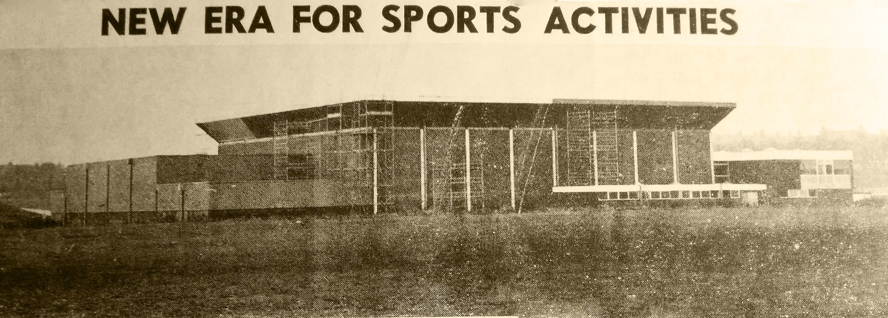 Consett Sport Centre 1975-2015 during Construction in 1974 small