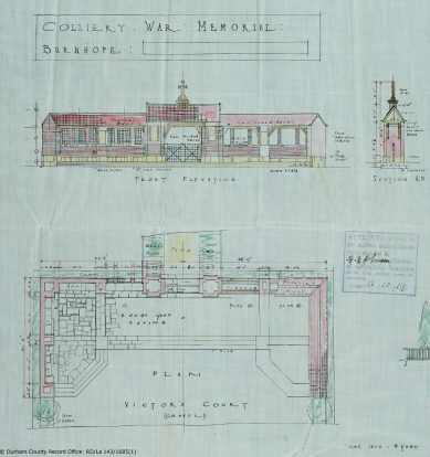 Burnhope War Memorial plan