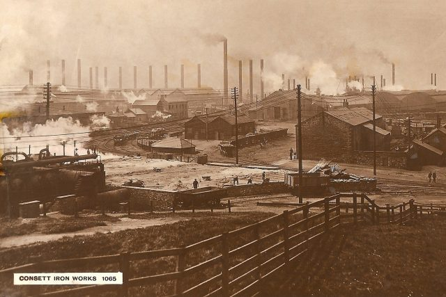 Sir David Dale – Industrialist & Philanthropist 1829-1906 - Consett Iron Works 1895 small