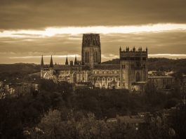durham cathedral from wharton park