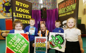 Road safety magic show