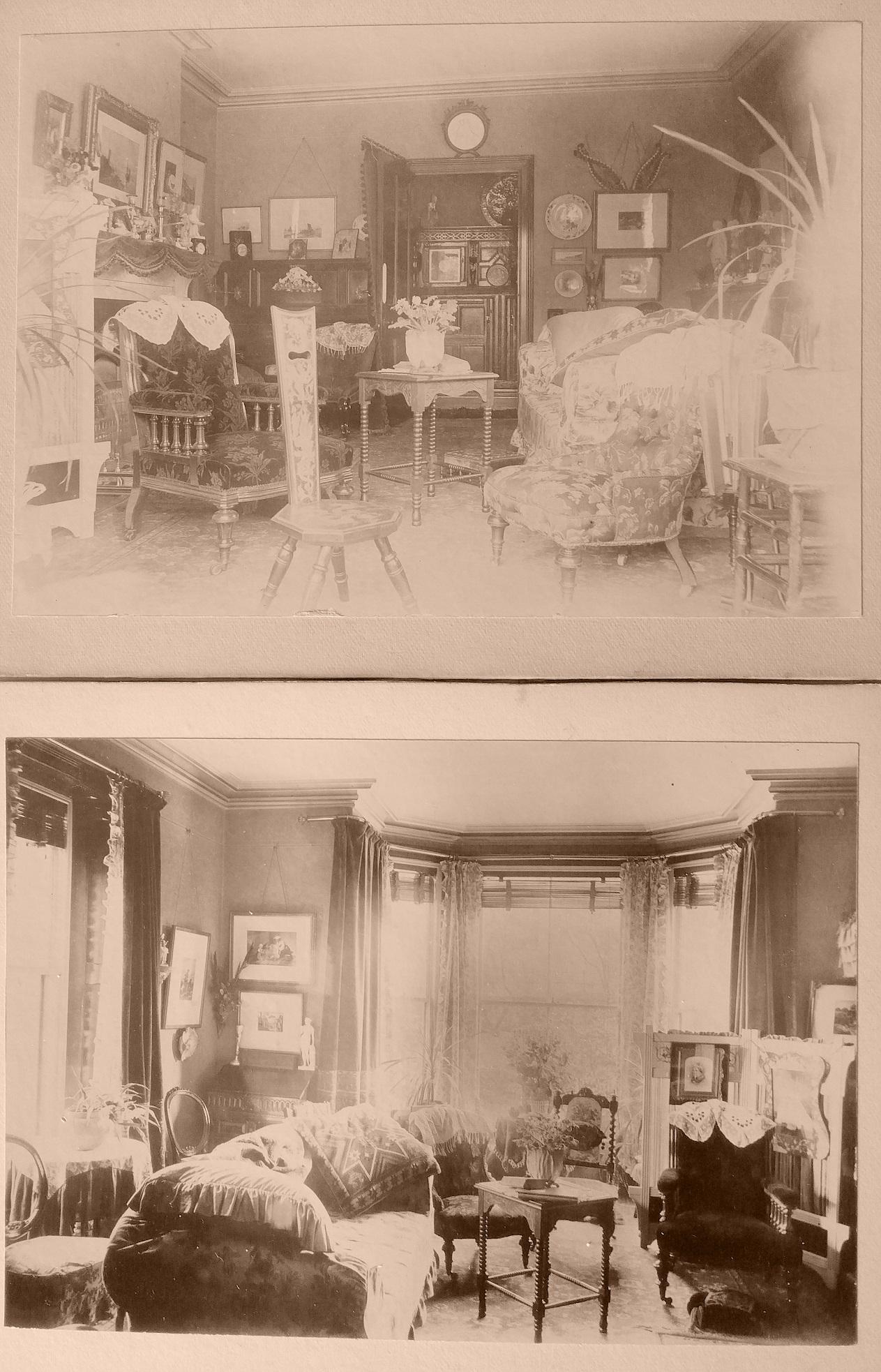 Consett History - Oakfield House interior c1890 - Consett Heritage History