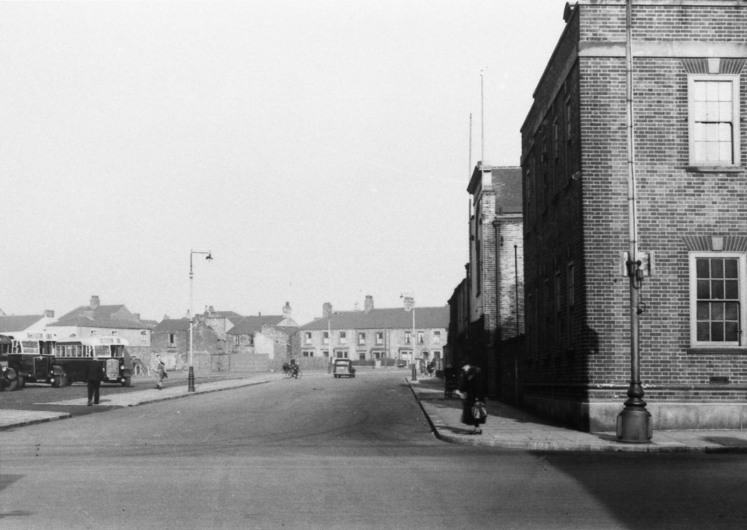 Consett looking up John Street with with the old Bus Depot