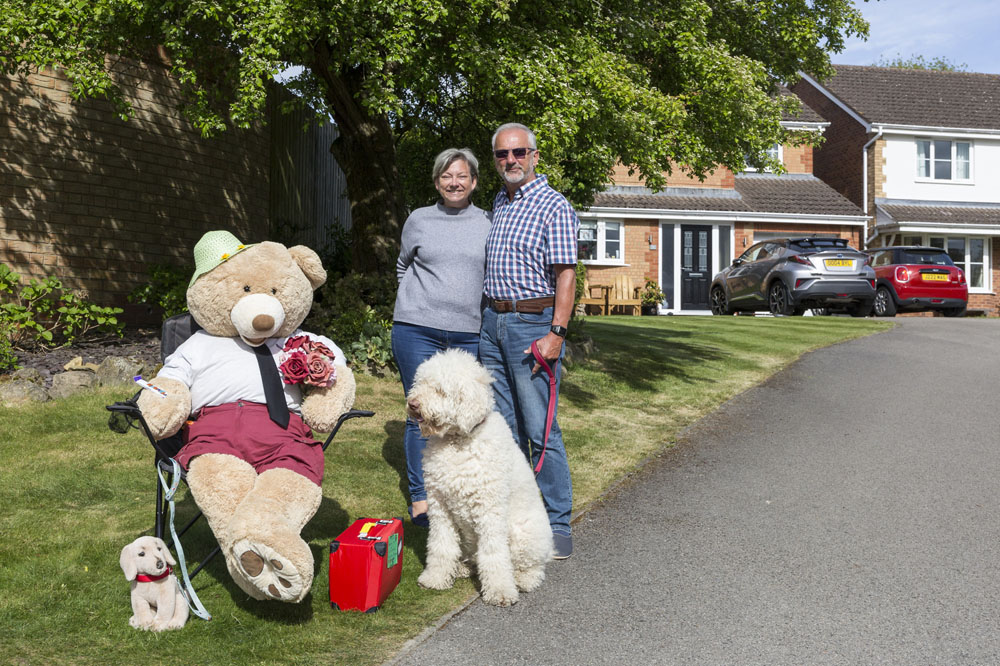 Consett Coronavirus 5. In the first lockdown, following on from the Rainbows and stones came the Teddy bears. People were encouraged to place a teddy bear in their window to cheer people up. Bill and Margaret took this up a level and dressed their bear up in different outfits for weeks on end. Adults and children alike would walk past the house just to see what 'Mr Funshine' was wearing. (Image: George Ledger)